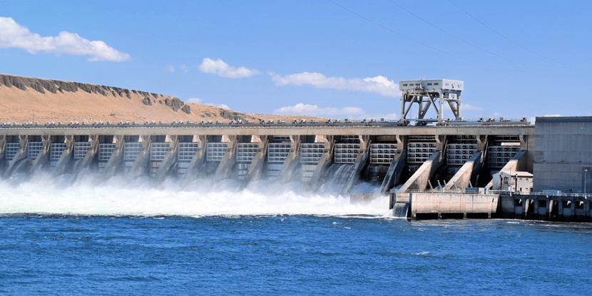 Energía hidráulica en una presa