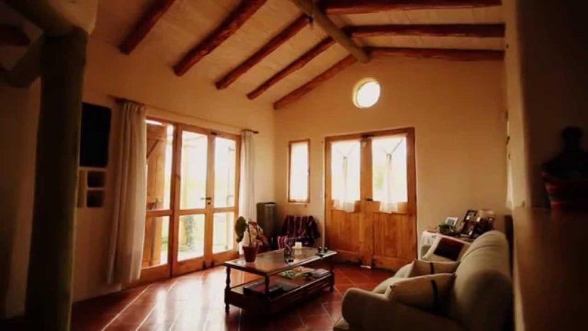 interior de una vivienda basada en la bioconstrucción