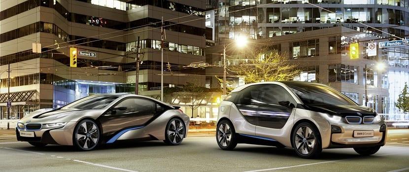 Modelo BMw de coche eléctrico