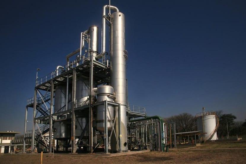 Planta de producción de bioetanol
