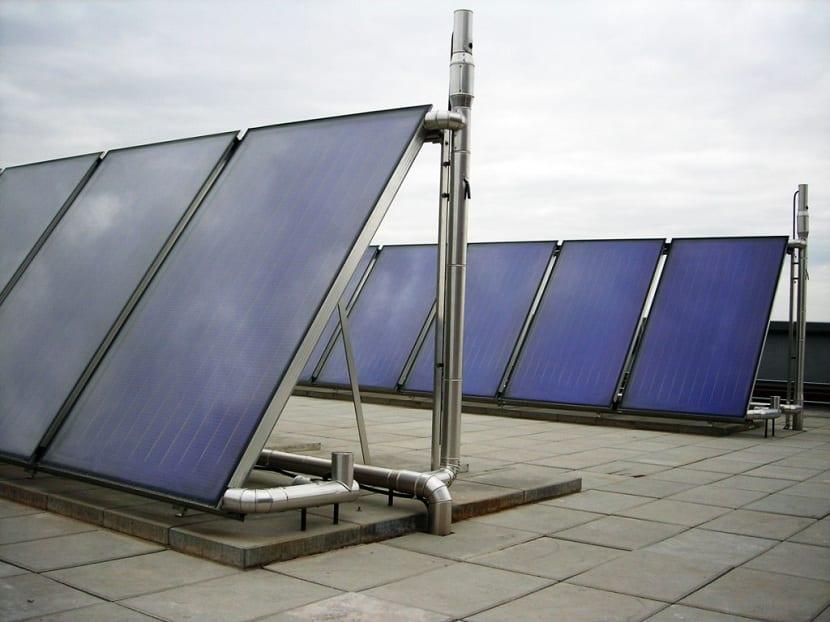 captador de energia solar térmica