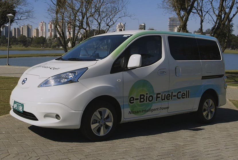 coche con bioetanol como combustible