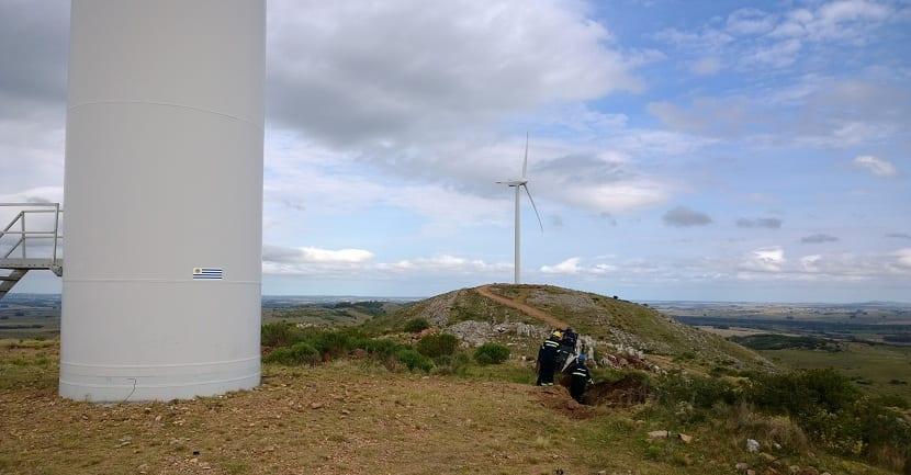 Tareas de mantenimiento del parque eólico