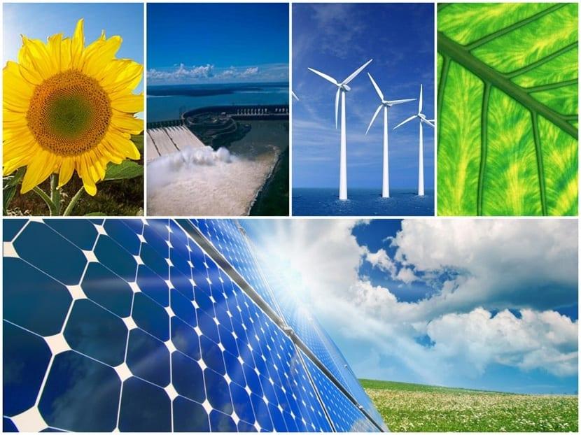 Distintas energías renovables