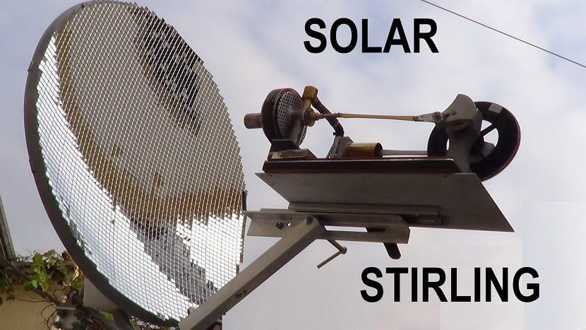 Stirling impulsado por energía solar