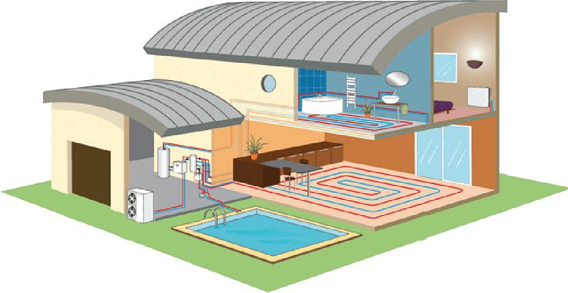 casa que emplea aerotermia como calefaccion