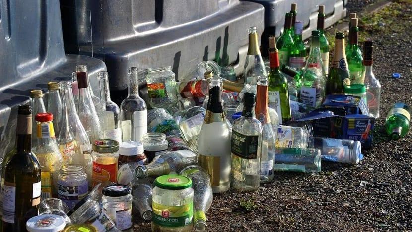 fallos en el reciclaje de botellas de vidrio