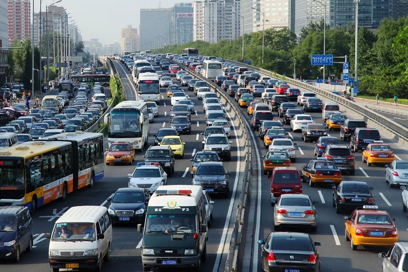 Contaminación por tráfico rodado