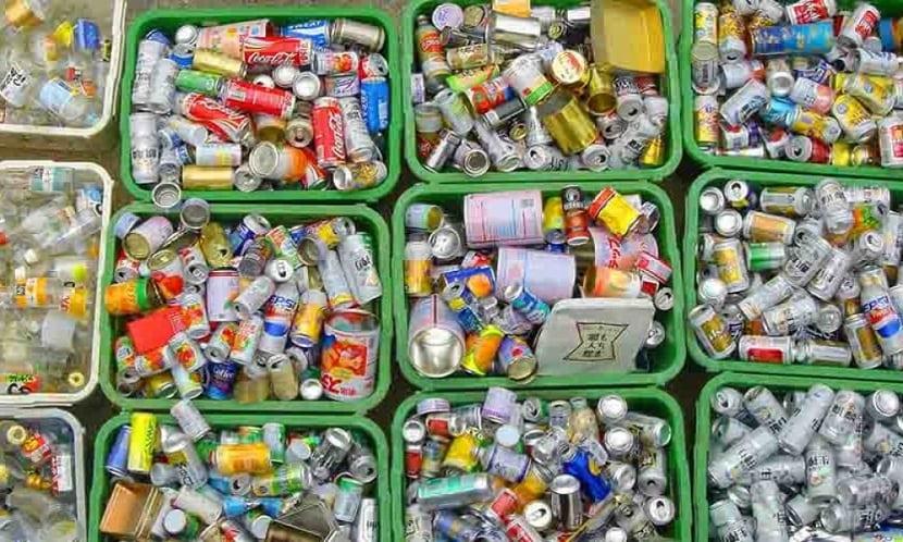 Separación de residuos para reciclar