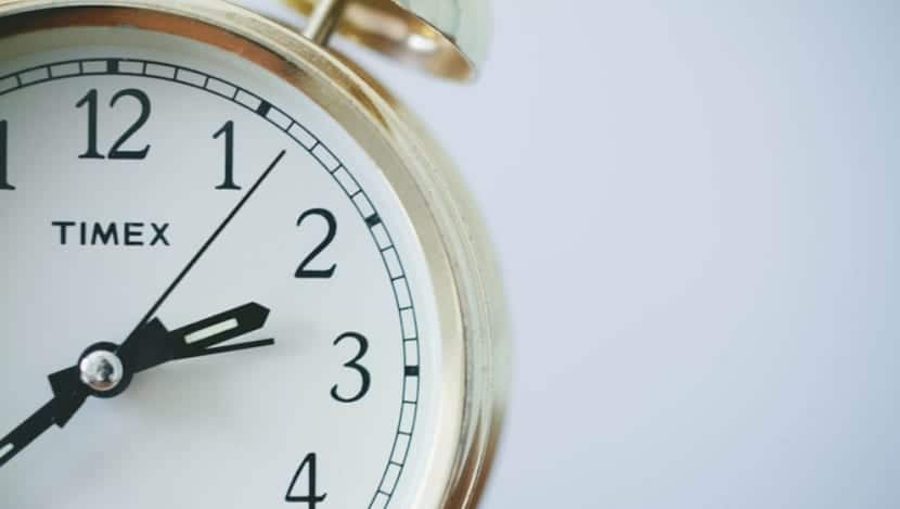 Cuando se cambia la hora