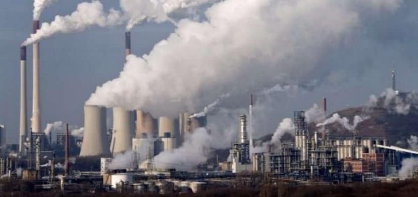 Dióxido de carbono emitido en industrias