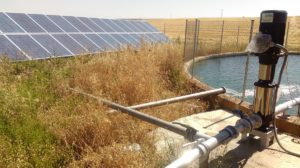 Riego de bombeo solar fotovoltaico