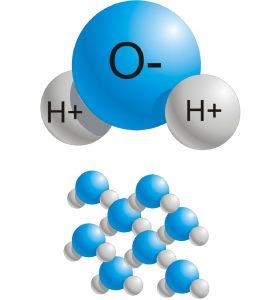 estructura de la molecula de agua