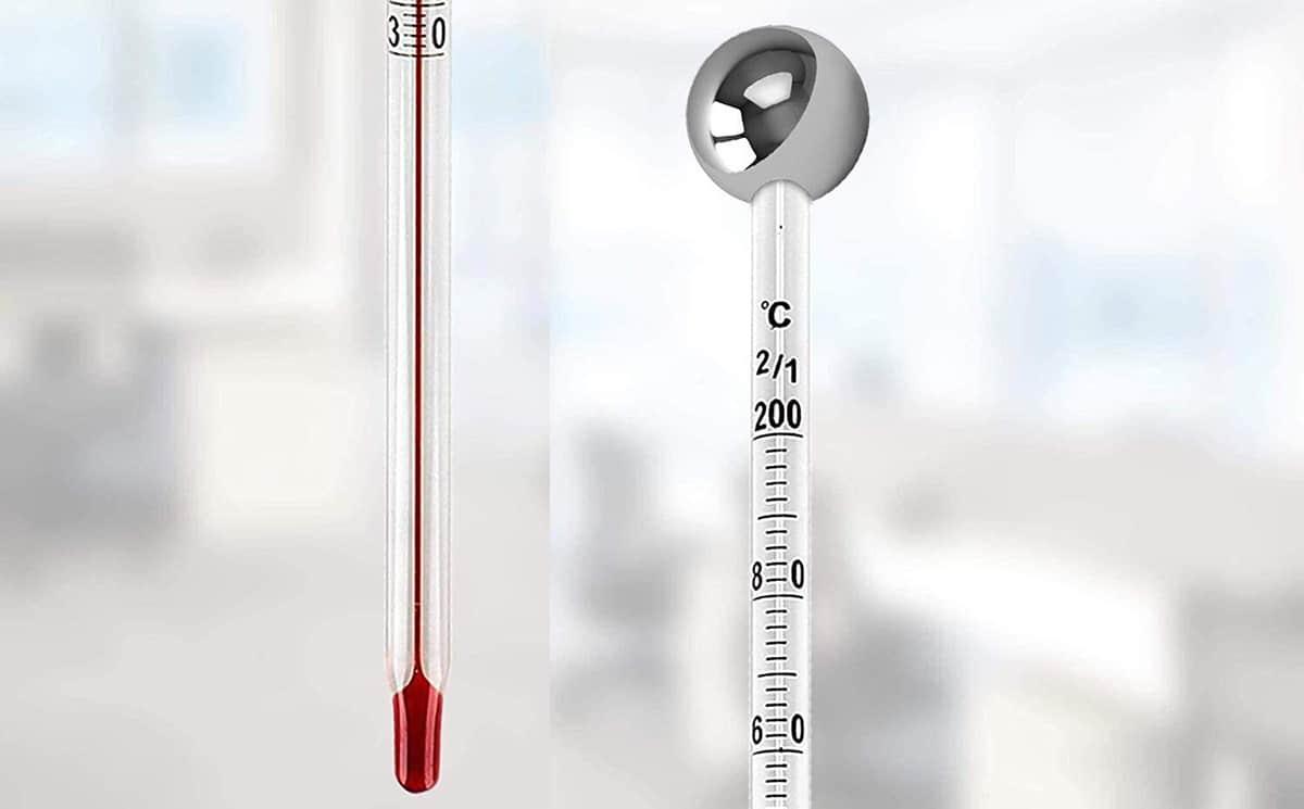 Partes de un termómetro de laboratorio