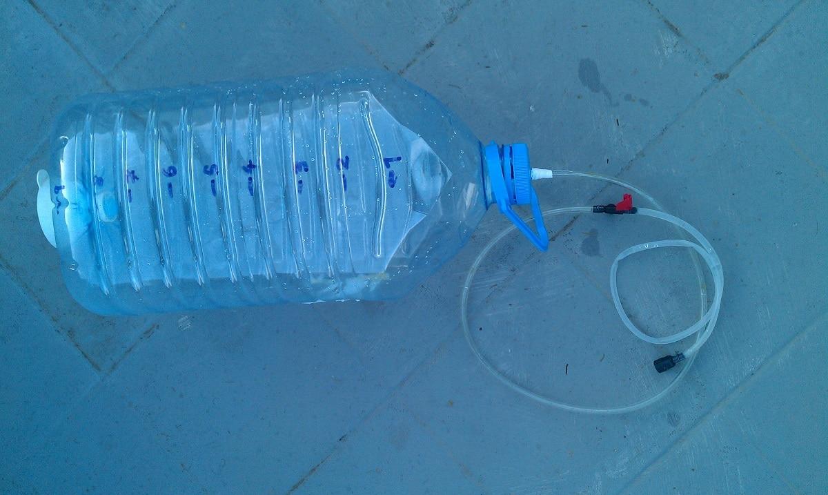 botella para regar