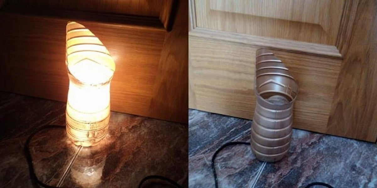 lampara con botella