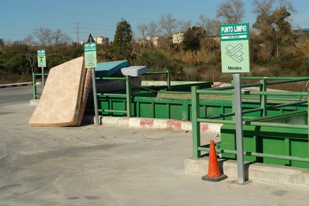 zonas para reciclar residuos