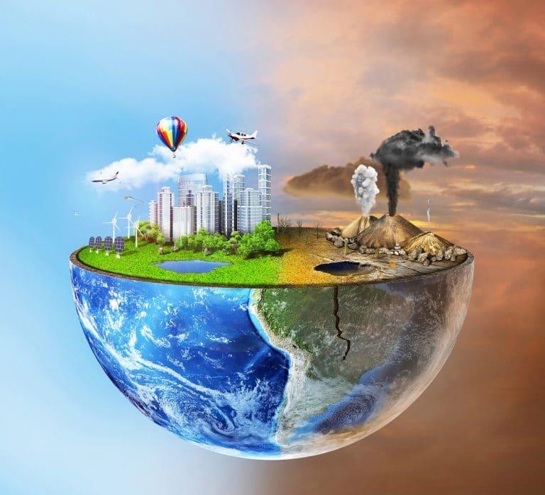 planeta tierra contaminado
