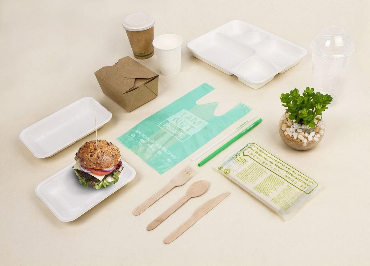 materiales biodegradables para la comida